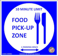food pickup sign