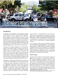 Transportation Happiness Guide - May 2018